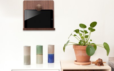 Wooden iPad Wall Mount